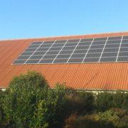 Yingli zonnepaneel met SMA omvormer in Rutten